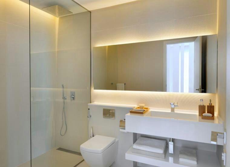 Espejos Para Bano Con Luz.Espejo Para Bano Con Luz De Led Decorativo De Pared Living