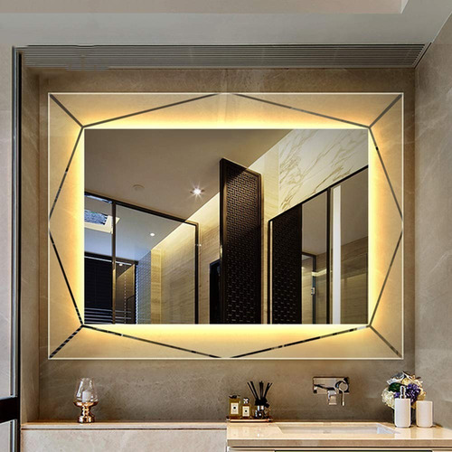 espejo para baño con luz led integrada 90x127cm