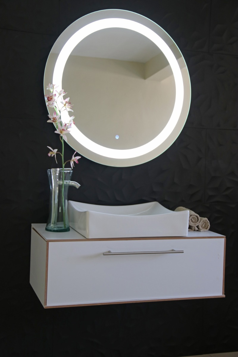 Espejo Para Baño Con Luz Led Integrada De 85 X 85cm ...