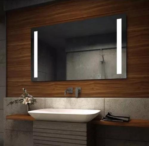 espejo para baño con luz led integrada dos barras de 60x86cm
