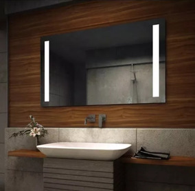 Espejos Para Bano Con Luz.Espejo Para Bano Con Luz Led Integrada Dos Barras De 60x86cm