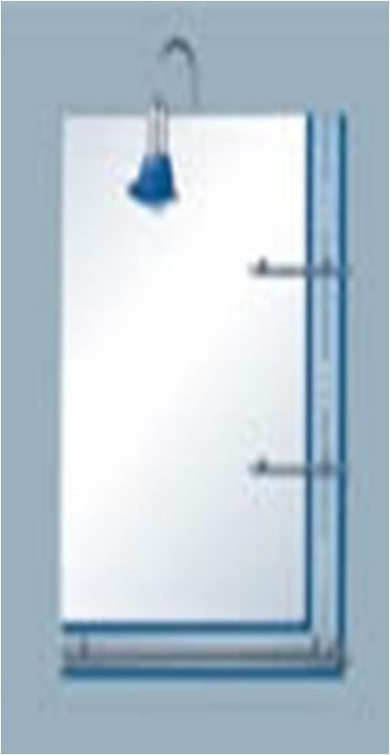 Espejo para ba o guarda azul con tres repisas 50898 u s for Espejos para banos con guardas