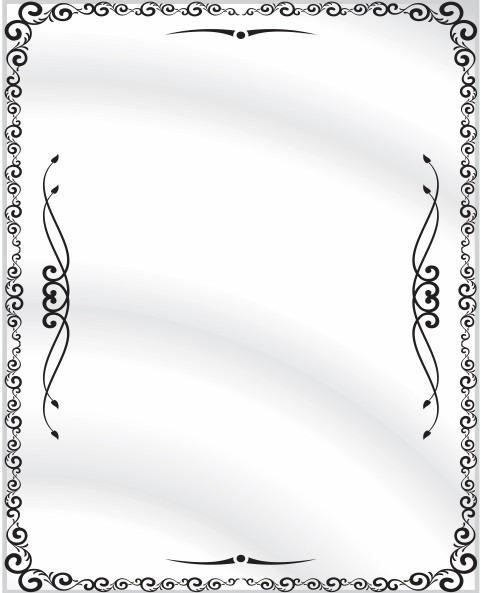 Espejos de bao decorados cool paso aplica silicona en las for Espejos decorativos sin marco