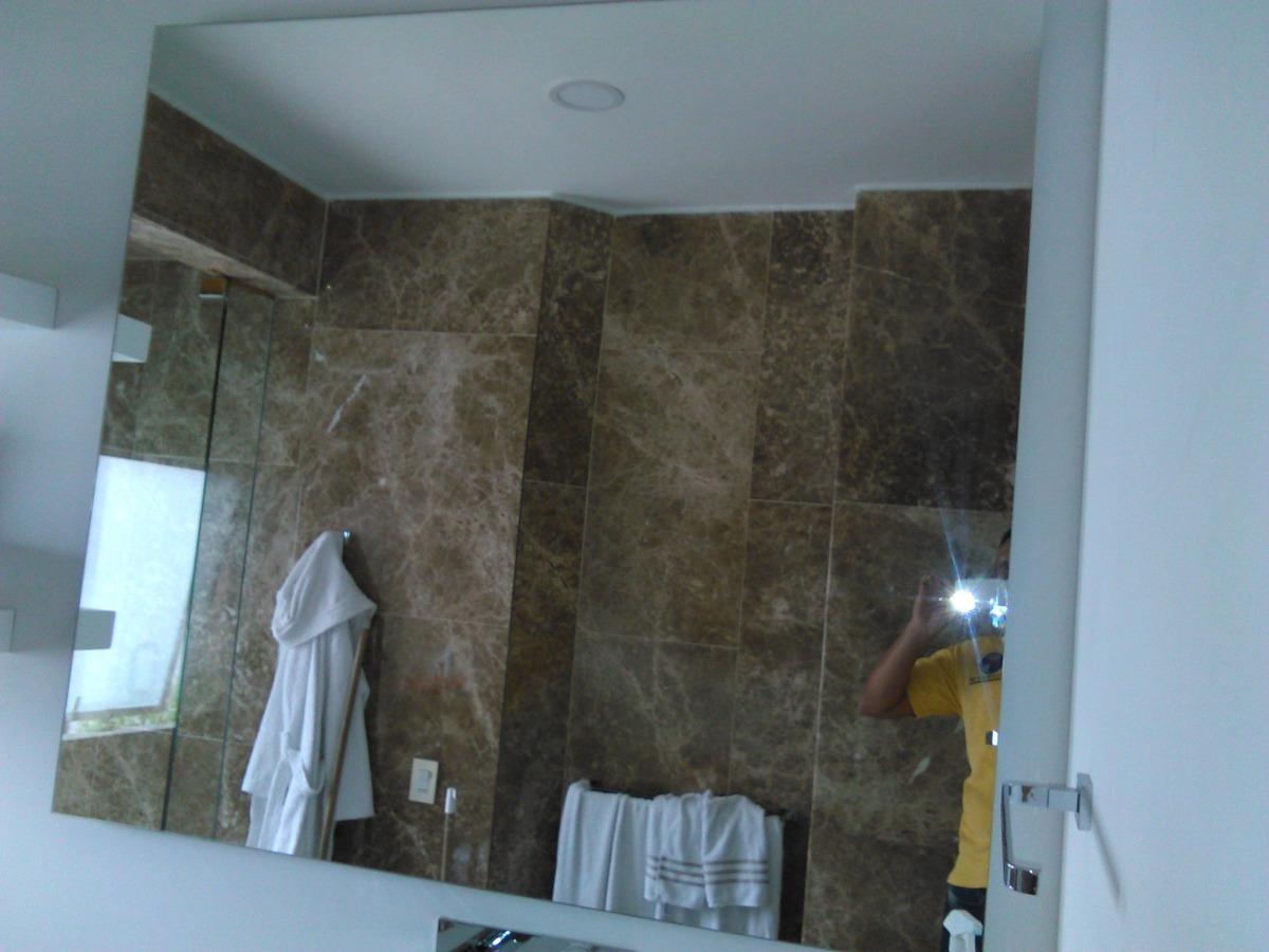 Espejo Para Baño Tipo Flotado De 4mm Cristal Fácil Instalar