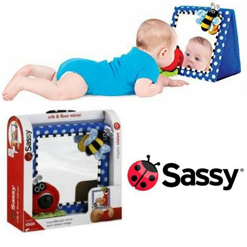 espejo para bebe sassy corral, cuna y piso
