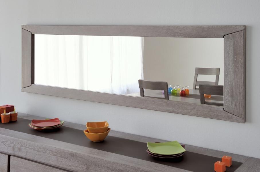 Espejo Para Comedor/sala Modelo Titan En Madera Enchapada ...