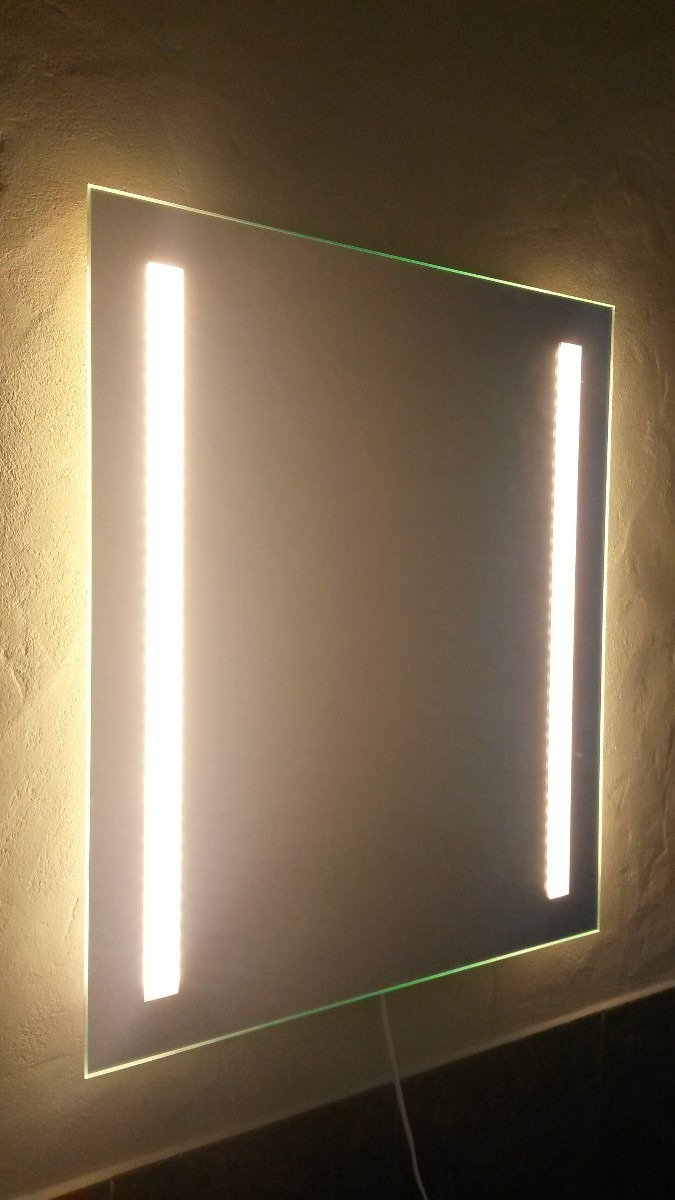 Espejo con luz espejos iluminacion lavabo moderno marco for Espejo aumento con luz