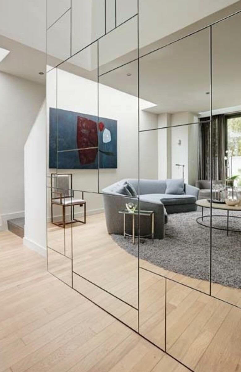 Espejo para paredes en salas ba os spa biselado o pulidos for Conforama espejos de pared