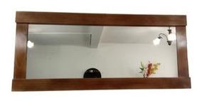 Espejo Para Sala Comedor Madera Hogar Moderno