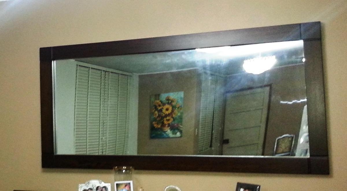 espejo para sala o comedor con marco en madera tornillo
