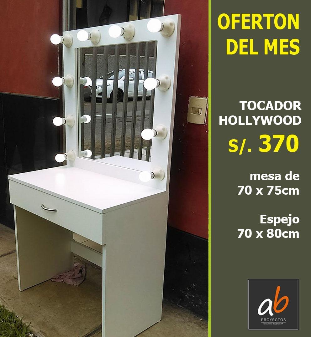 Espejo para tocador de maquillaje con luces led s 370 00 en mercado libre - Espejos de tocador con luz ...