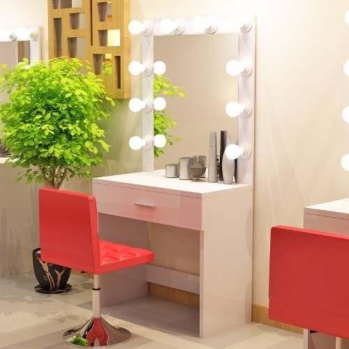 Espejo para tocador de maquillaje con luces led s 370 - Tocador con espejo y luces ...