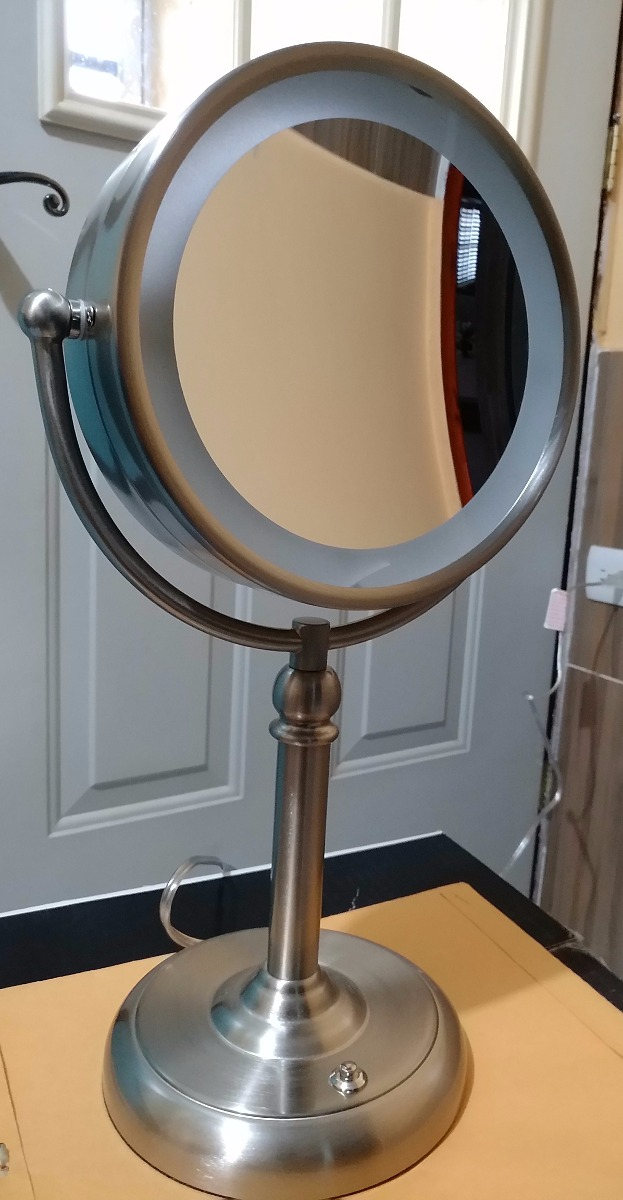 Espejo para tocador doble con luz led y aumento10x oferta for Oferta espejo pared