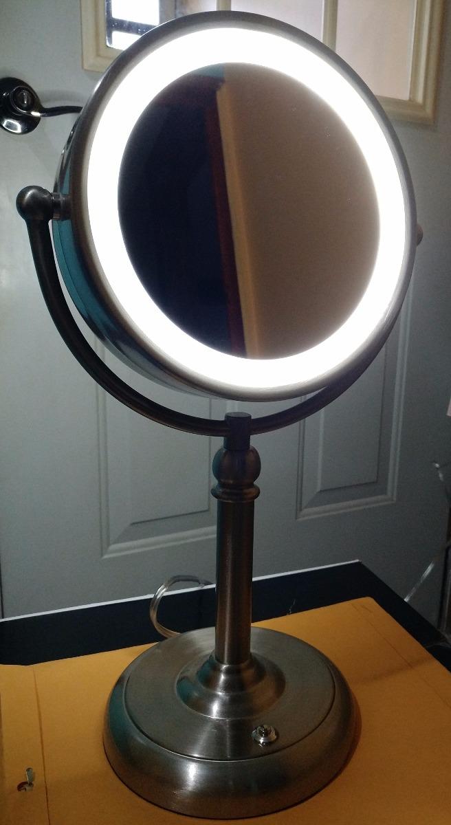 Espejo para tocador doble con luz led y aumento10x oferta for Espejo aumento con luz