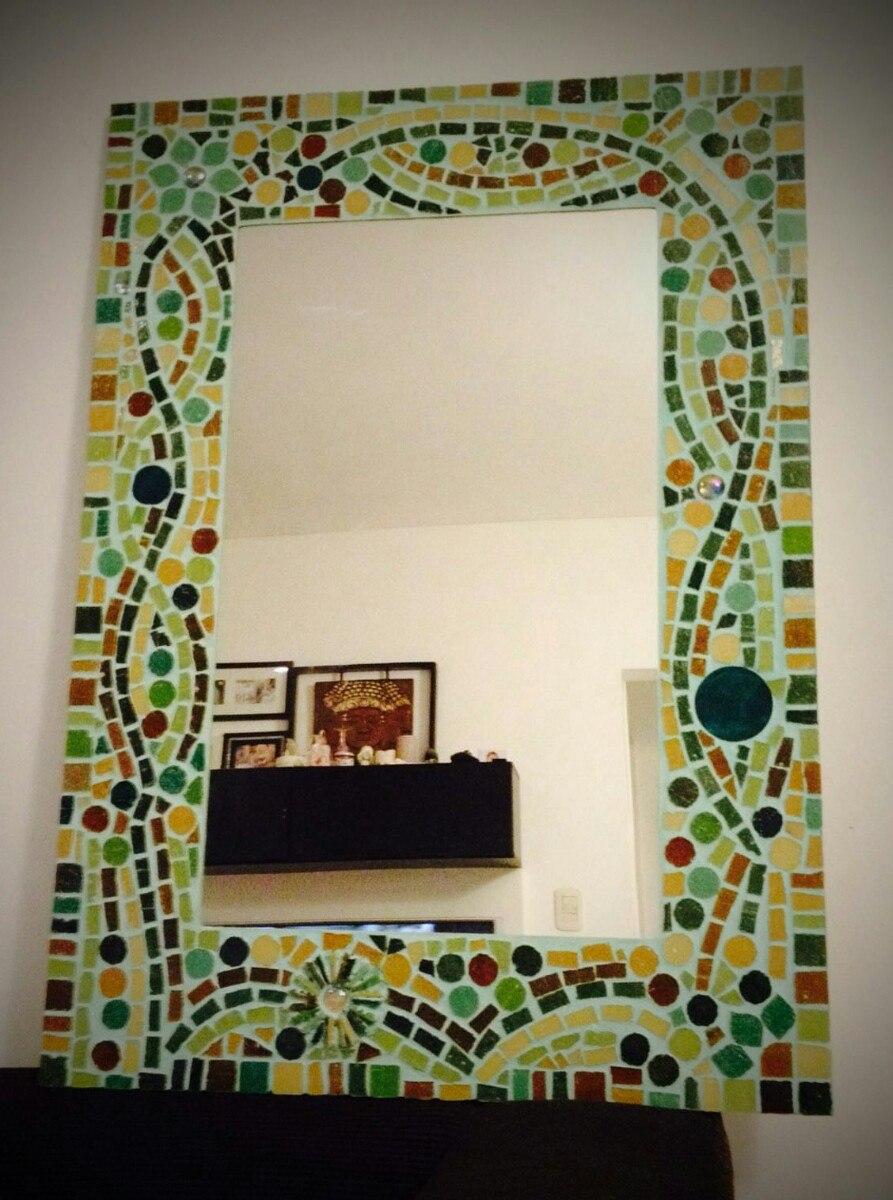 Espejo Para Baño Decorado En Venecitas - $ 2.750,00 en Mercado Libre