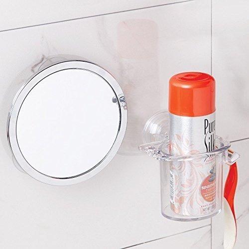 espejo p/ducha o baño p/afeitar de succión interdesign qro