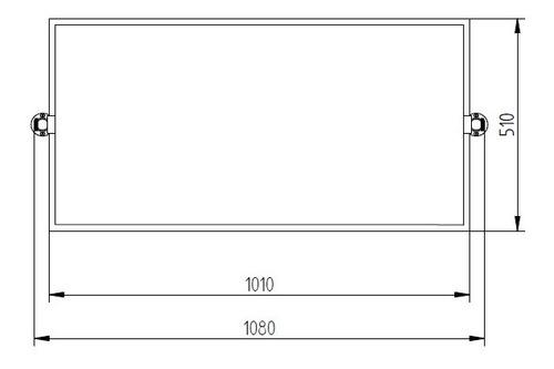 espejo pivotante vertical robinet 100x50 cromo 18 cuotas