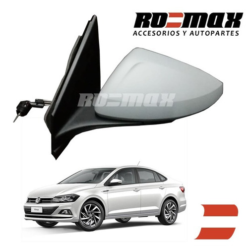 espejo polo virtus 2018 manual original vw volkswagen romax