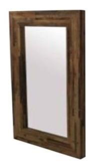 espejo reciclato grande de madera recuperada