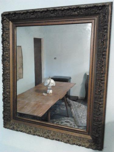 espejo rectangular antiguo impecable estilo frances 76p 90cm