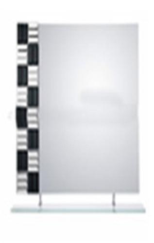 Espejo rectangular horizontal para ba o con repisa u s for Espejo horizontal