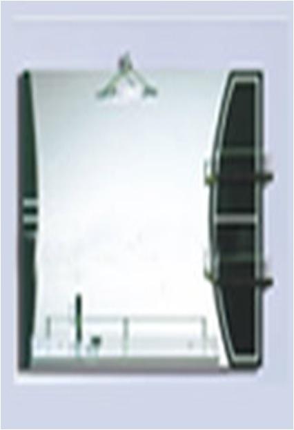Espejo Rectangular Horizontal Para Ba O Con Repisas Y