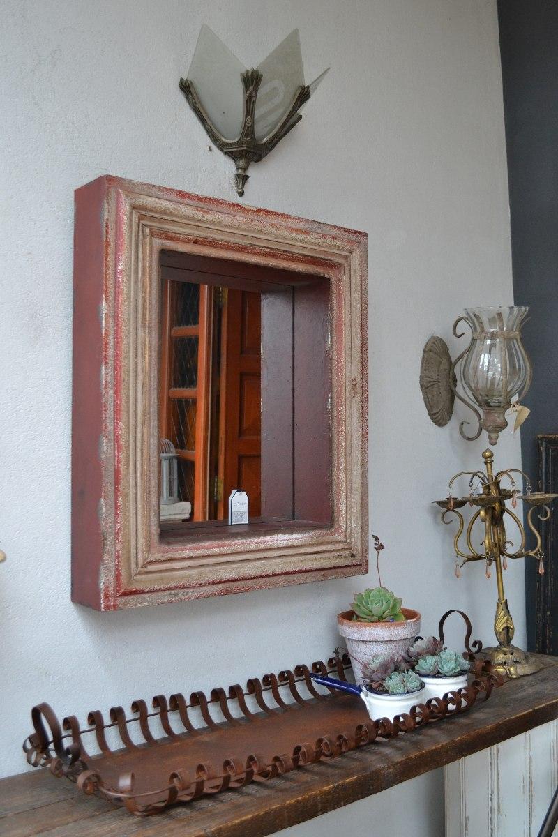 Espejo Rectangular Profundo Marco De Madera 70x60cm - $ 2.360,00 en ...