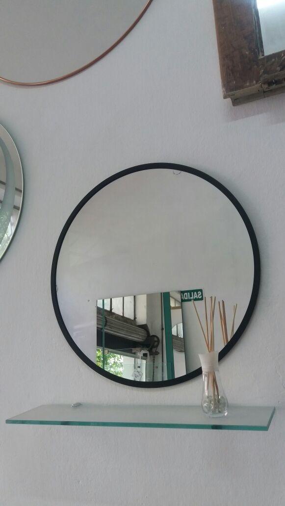 Espejo Redondo 50cm Con Marco A Elección. - $ 650,00 en Mercado Libre