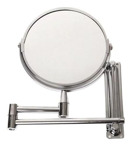 espejo redondo abatible de pared acabado cromado namaro