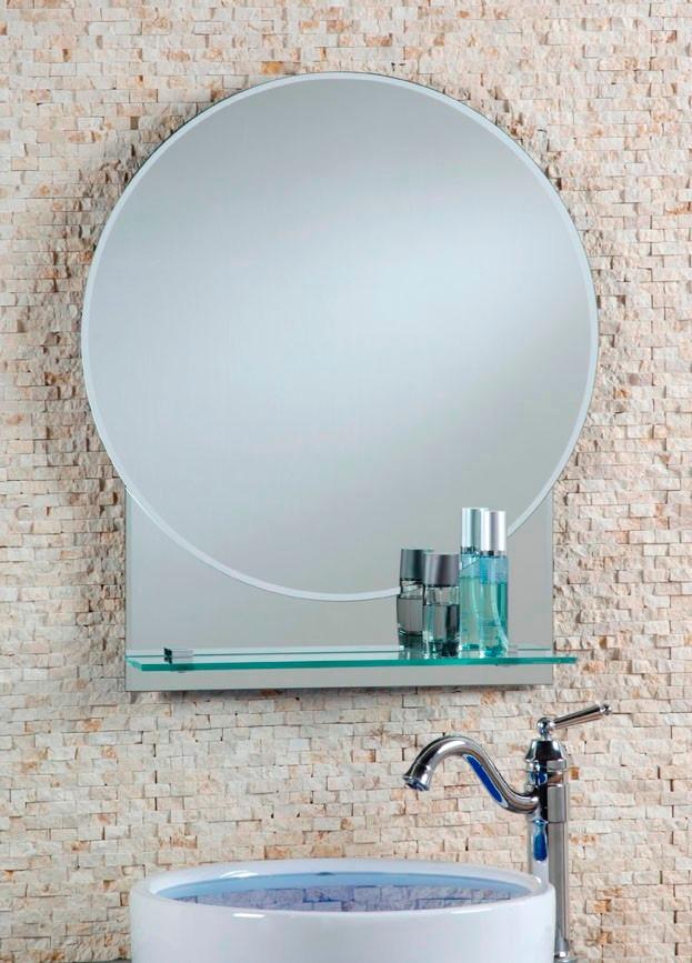 Espejo redondo con repisa 60 cm x 80 cm en for Espejo 140 x 80