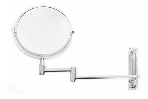 espejo redondo de pared abatible estilo cromado namaro