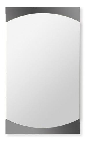espejo reflejar bar marco bandas grises 36x62 cm baño gtia