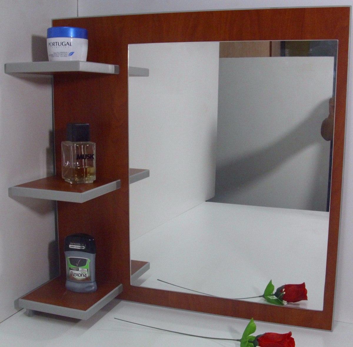 Espejo repisa ba o habitacion melamina oferta s for Oferta espejos pared