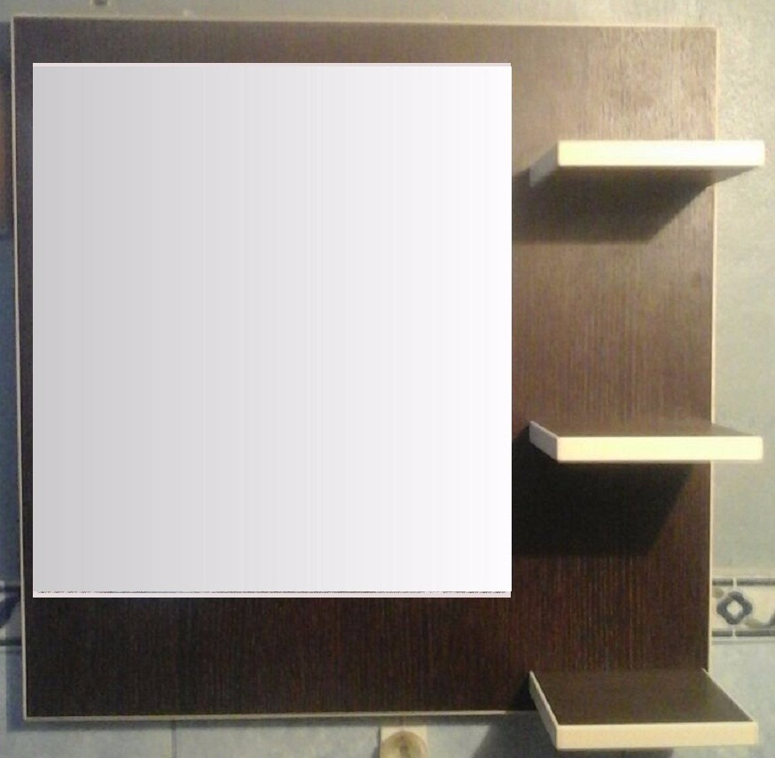 Espejo repisa ba o habitacion melamina oferta cr 10 for Espejos en oferta