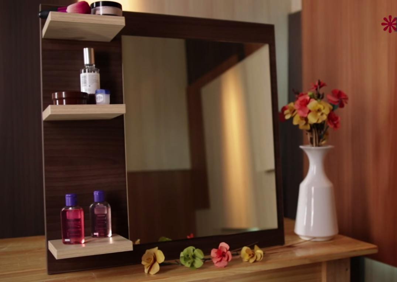 Espejo repisa ba o habitacion melamina oferta cr 10 for Oferta espejo pared