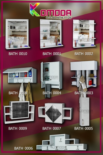 espejo repisa para baño con estantes - hogar, muebles