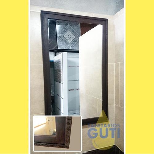espejo resina 76x46 baño travertino 4 modelos de diseño