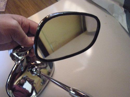 espejo retro fiat 125 128 1600 coupe sedan metal cromado!!
