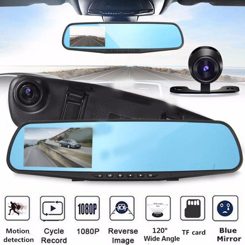 espejo retrovisor 1080p camara carro doble  video y reversa