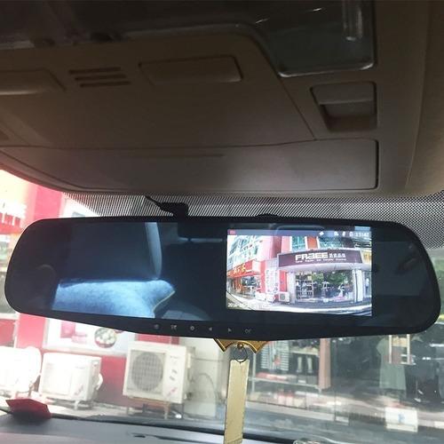 espejo retrovisor camara frontal+cámara retroceso full hd