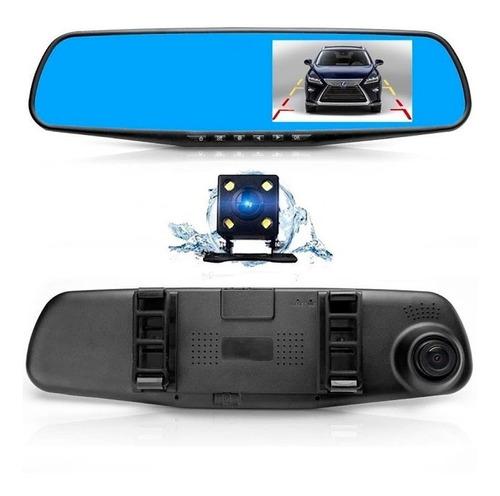 espejo retrovisor+camara frontal+retroceso full hd 1920x1080