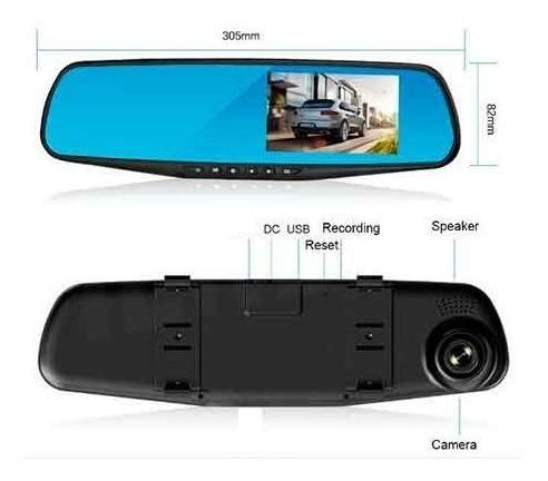 espejo retrovisor + camara frontal y camara retroceso hd