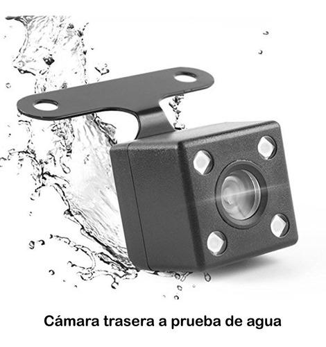 espejo retrovisor cámara reversa 7 pulgadas táctil dual cam