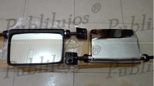 espejo retrovisor cromado mitsubishi montero 2600 precio c/u