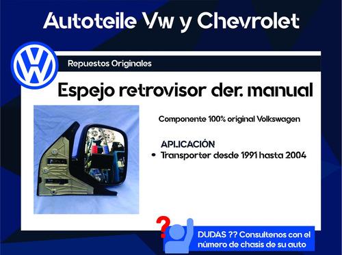 espejo retrovisor der. manual transporter original vw