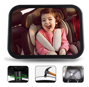 Katurn Mini Espejo Retrovisor para Vigilar al Beb/é en el Coche Irrompible 360/° Ajustable Interior Espejo Coche para Beb/é 2 en 1 Espejo hacia Asiento Posterior para Beb/és