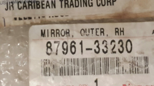 espejo retrovisor izquierdo toyota camry 97-2001