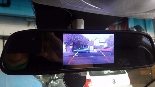 espejo retrovisor + monitor 4,3  + camara retroceso completo