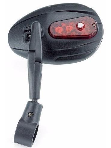 espejo retrovisor para bicicleta con 6 led y 2 funciones