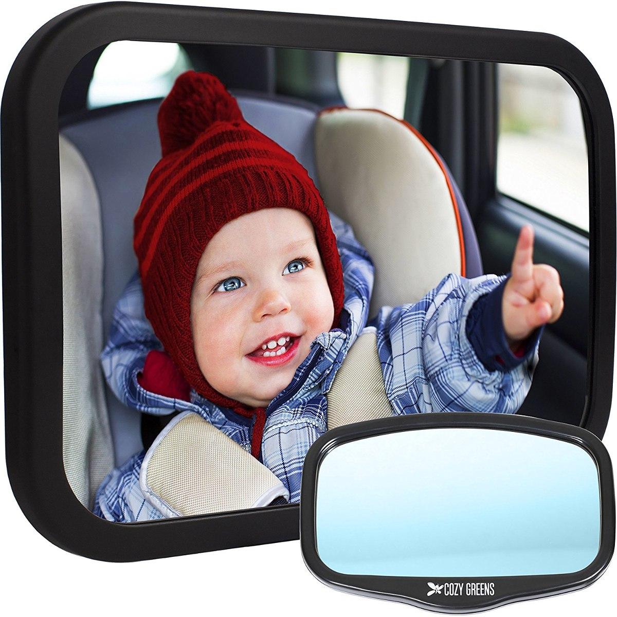 Espejo Retrovisor Seguridad Para Bebe Cozy Greens Para Auto